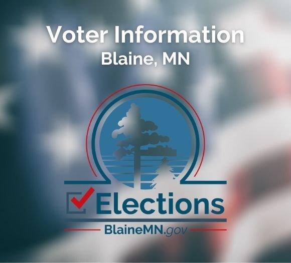 Voter Information in Blaine, Minnesota BlaineMN.gov/Elections logo