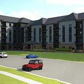 Cedar Point Apartments exterior rendering