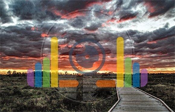 Sun Setting over Blaine Wetland Sanctuary Boardwalk