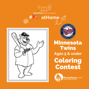 MN Twins Coloring Contest - 5under 300