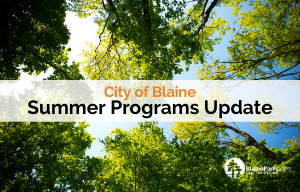 Image of trees and text reading Summer Programs Update
