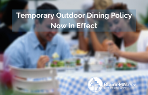 Temporary Outdoor Dining Policy Now in Effect