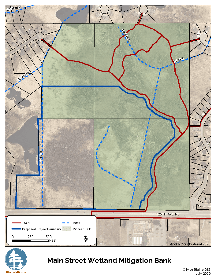 Main Street Wetland Mitigation Bank Map