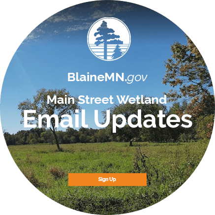 Main Street Wetland - Email Updates - Sign Up