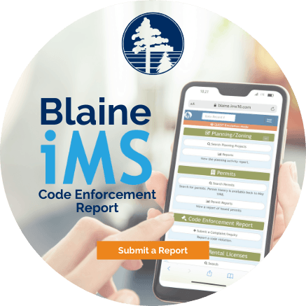 Blaine iMS Code Enforcement Report - Submit a Report