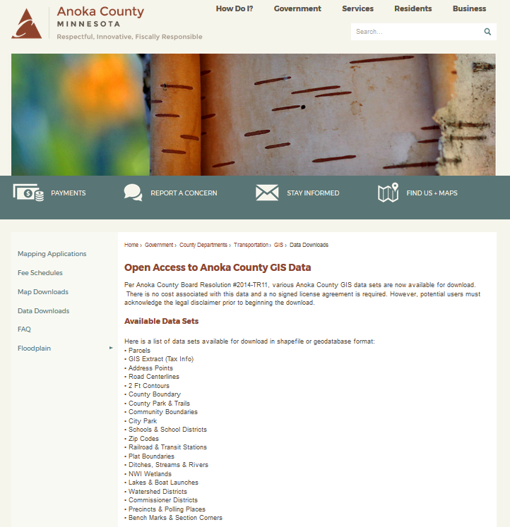 Anoka County Open Data Library
