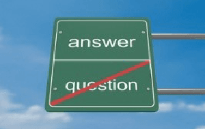 Answer/Question Sign