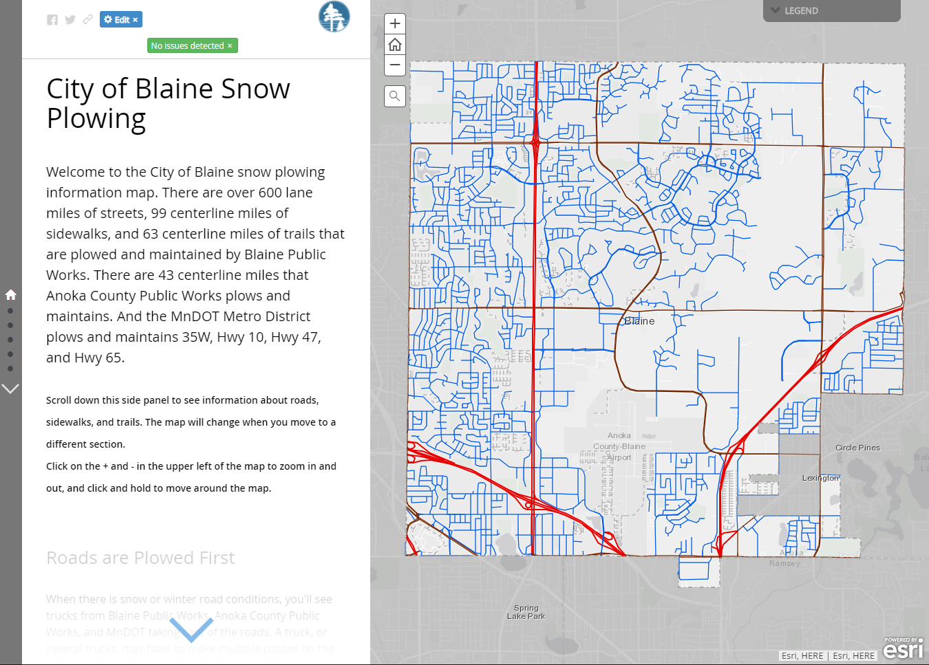 City of Blaine Snow Plow Map