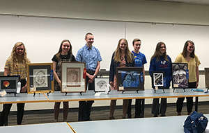 2019 Teen Art Show Winners with Artwork