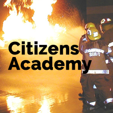 Citizens Academy - Firefighters putting out a fire