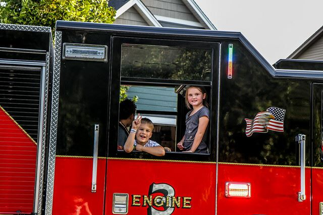 Children in Fire Truck