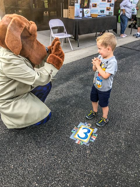 McGruff with Neighborhood Child