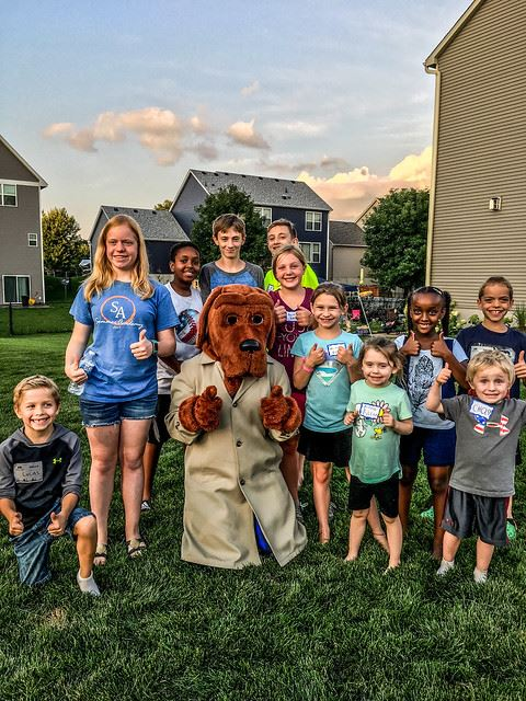 McGruff with Neighborhood Children