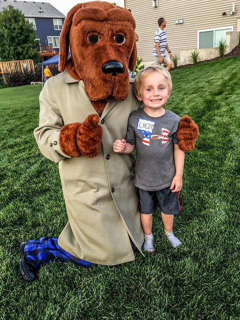 McGruff with Child