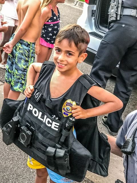 Child Wearing Bulletproof Vest