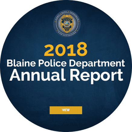2018 Blaine Police Department Annual Report