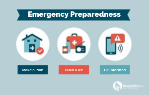 Emergency Preparedness - Make a Plan, Build a Kit, Be Informed - 300