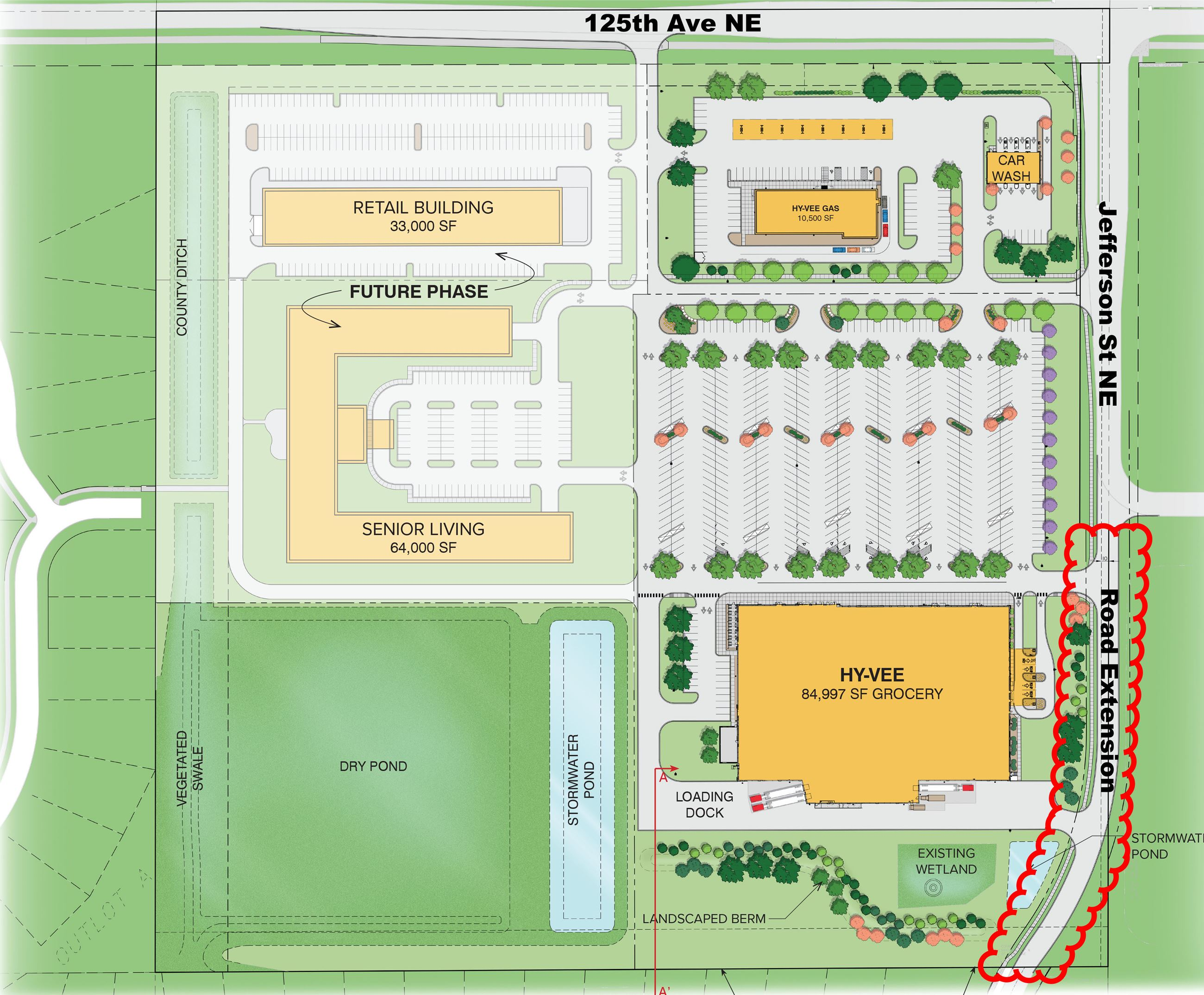 Hy-Vee site layout