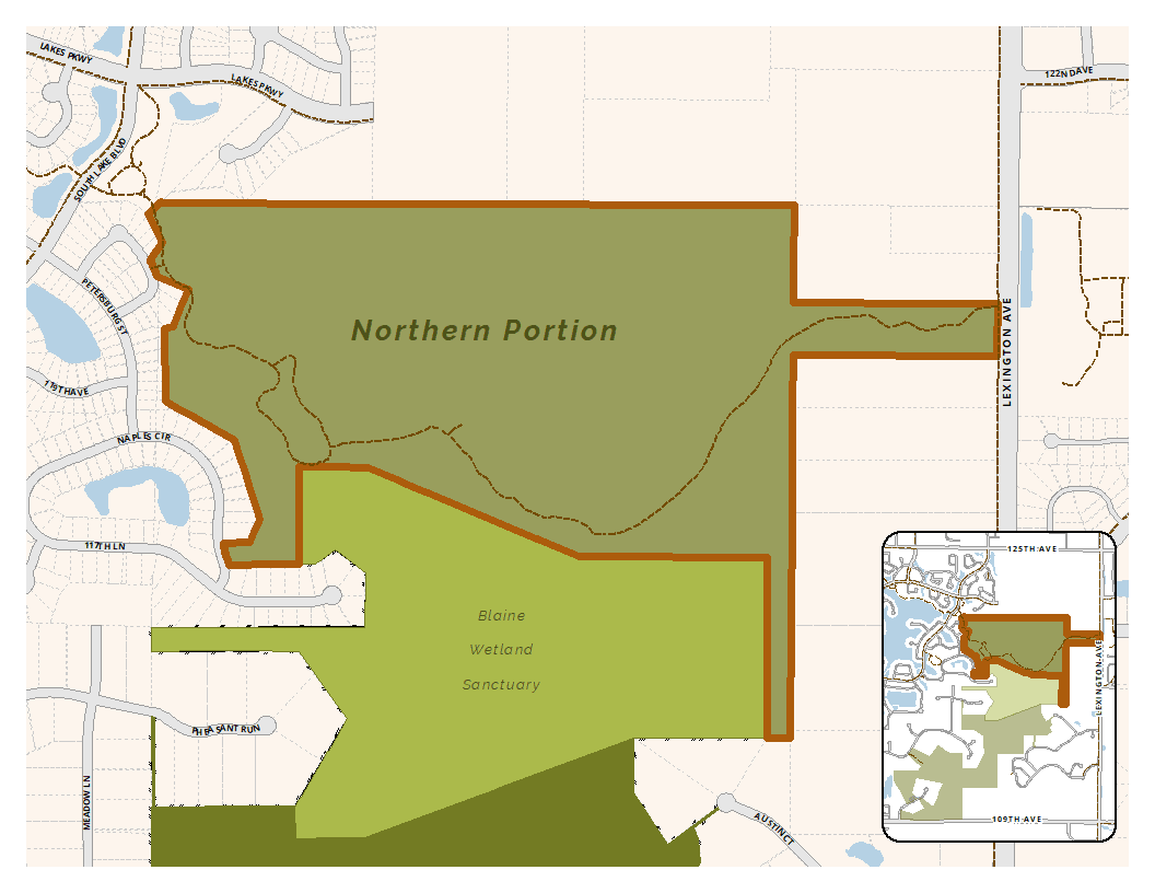 Map of site seven in the Blaine Wetland Sanctuary