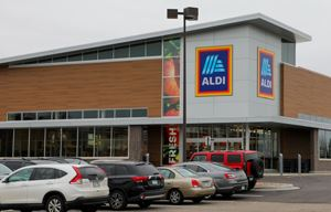 exterior image of an Aldi store