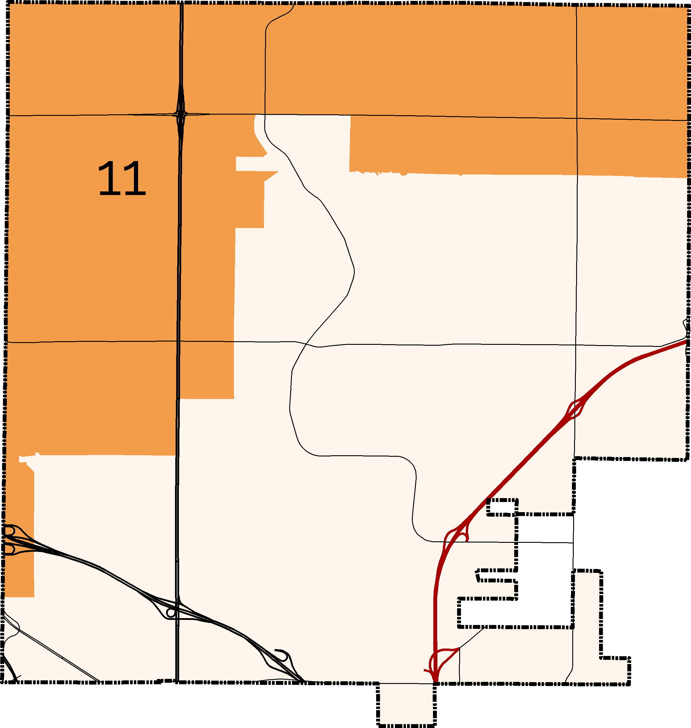 District 11 Boundary Map