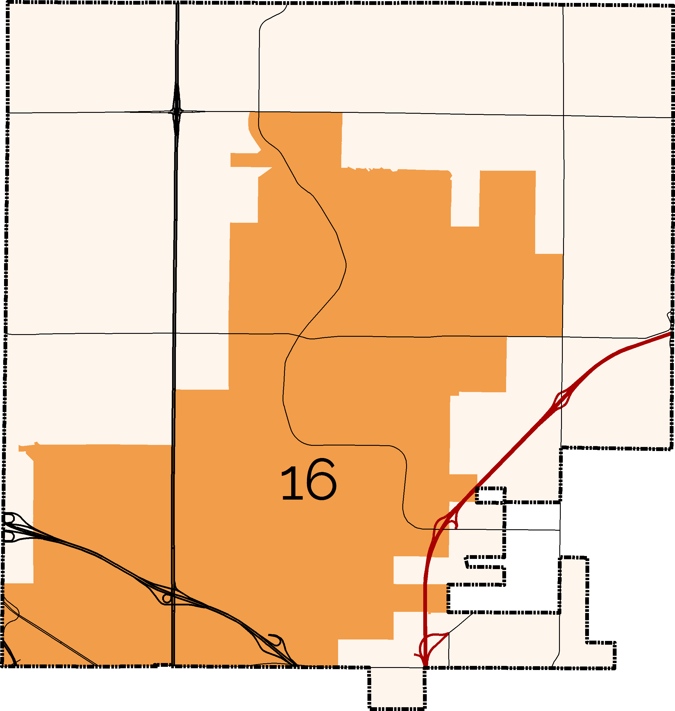 District 16 Boundary Map
