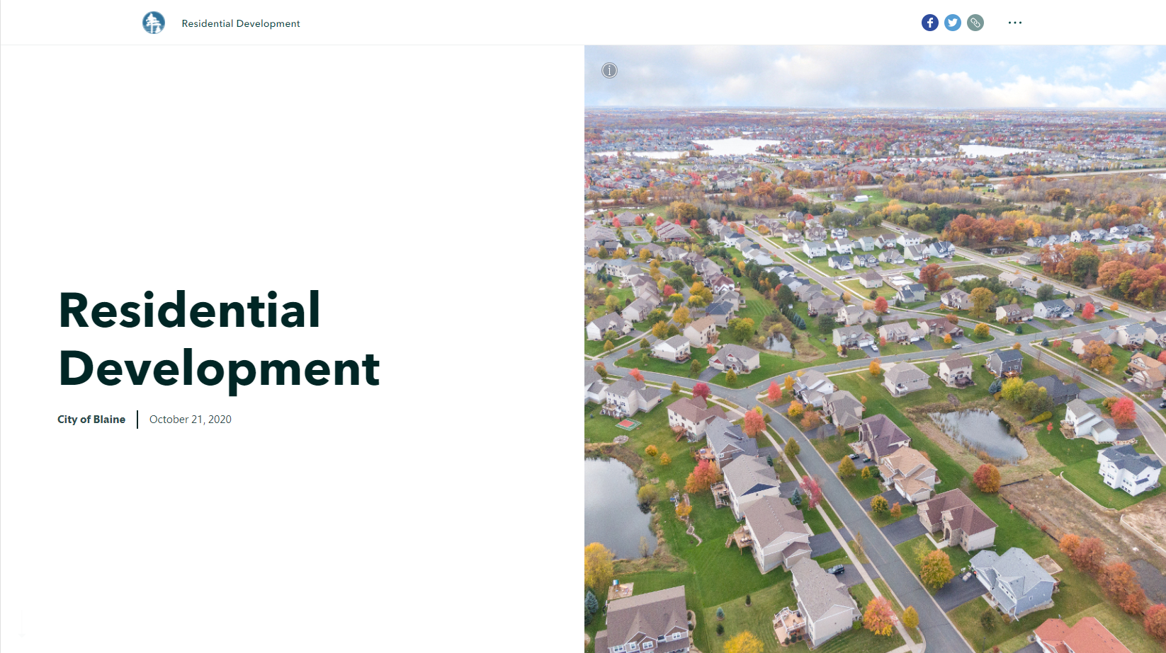 Image of the residential development map in the City of Blaine. Opens in new window